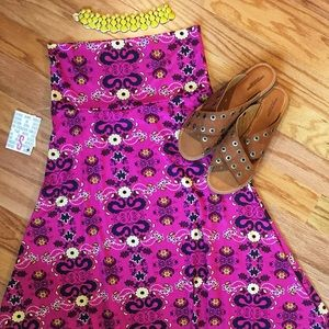 Pink Floral Maxi Skirt NWT Small